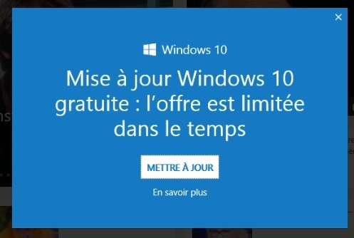 Pub Internet explorer sur Windows 10