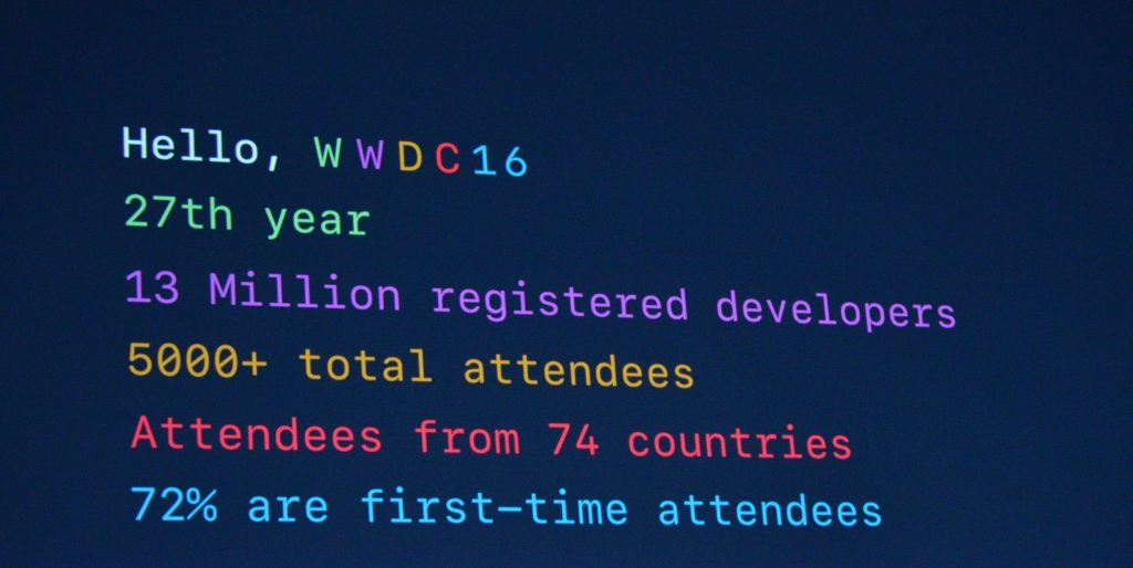 Ouverture conférence WWDC 2016