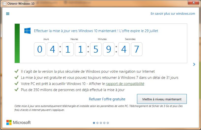 Compteur Windows 10