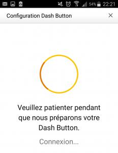 Connexion en cours du Amazon Dash Button