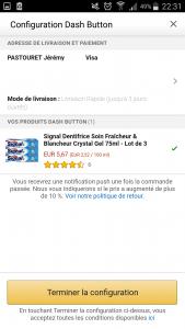 Finalisation du Amazon Dash Button