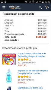 Detail de la commande Amazon