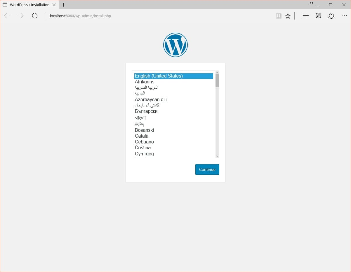 Démarrage WordPress