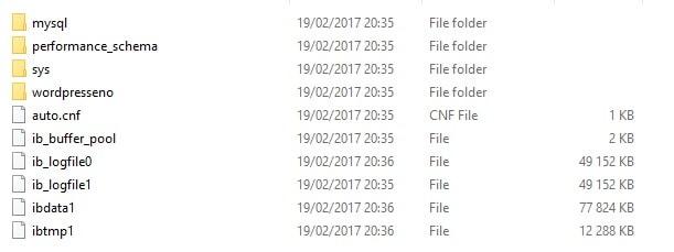 Fichier MySQL WordPress