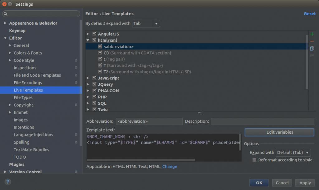 Edit variable PHPStorm