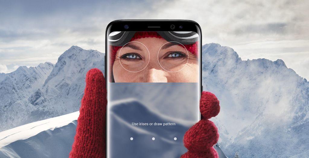 Reconnaissance Iris Samsung Galaxy S8