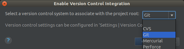 Enable Version Control Git