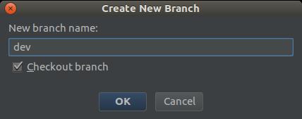 Nouvelle branche Dev sous PHPStorm