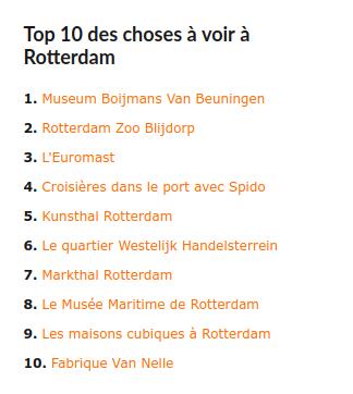 Top 10 des choses à voir à Rotterdam