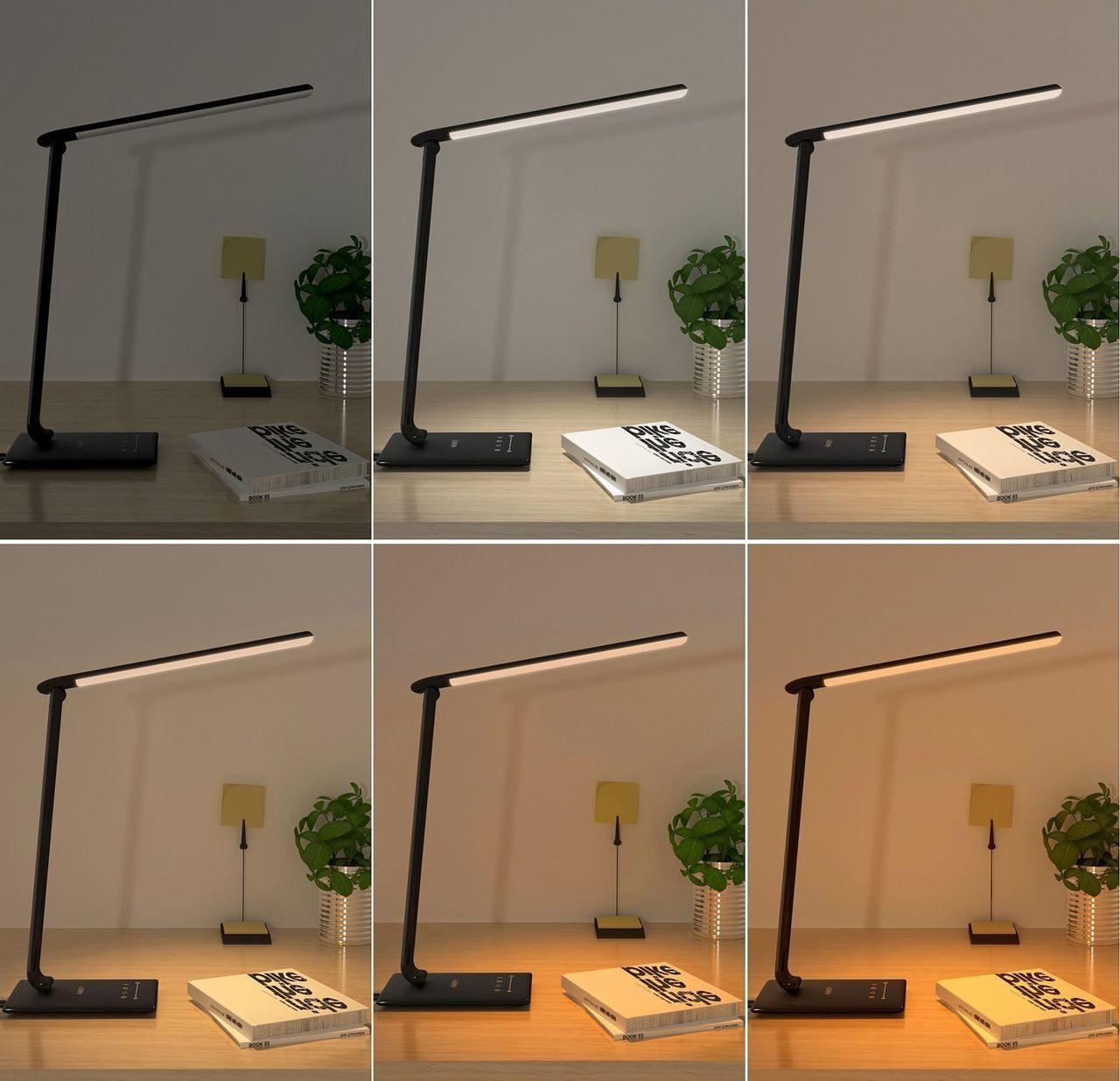 Différentes teintes de lumière de la lampe Aukey
