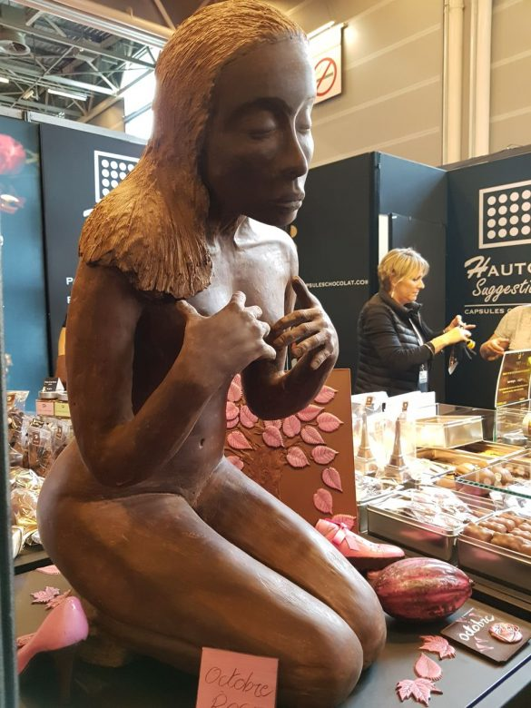 Femme en chocolat