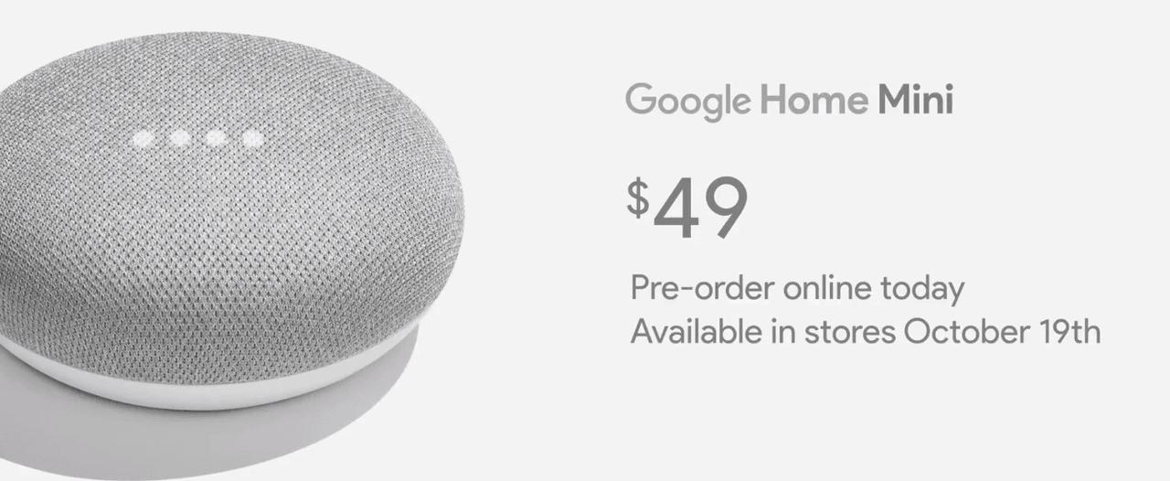 Google Home Mini Prix