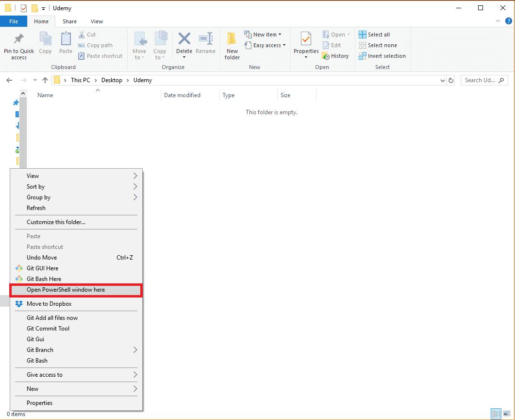 Ouvrir PowerShell sur Windows