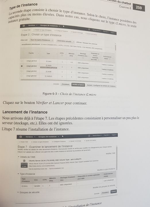 Choix d'instance AWS