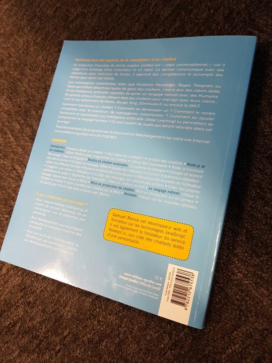 Conclusion sur livre Comprendre et développer un ChatBot
