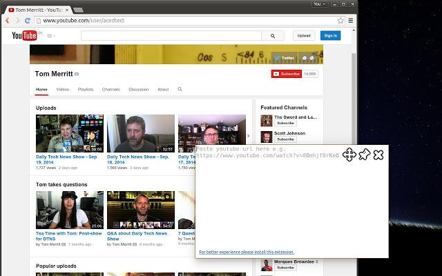Lien Youtube Floating