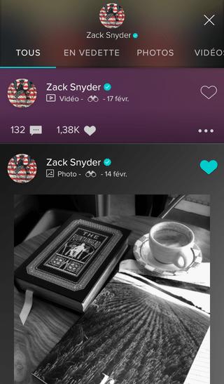 Zack Snyder sur Vero