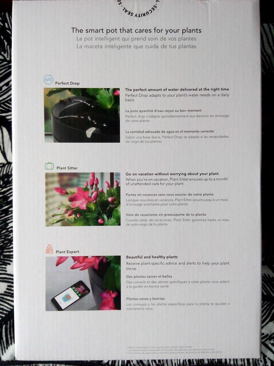 Emballage Parrot Pot - Fonctionnalités