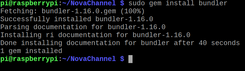 Installation de Bundler