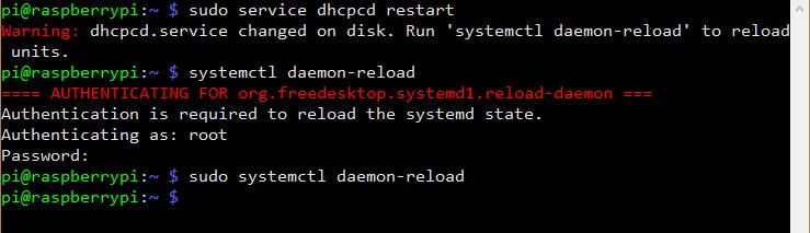 Redémarrage du service DHCP