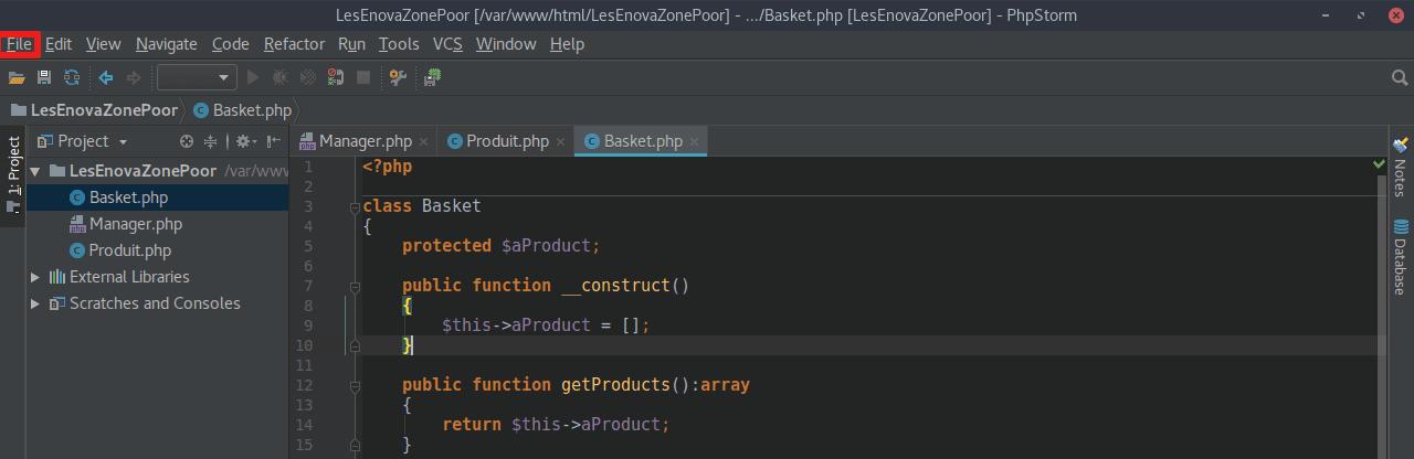 PHPStorm Projet
