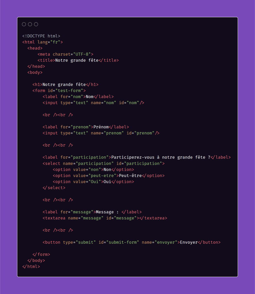 Ajout Id dans le formulaire HTML - Google Sheet