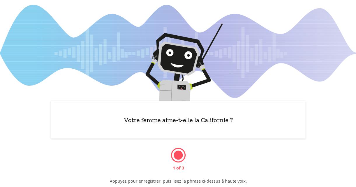 Enregistrement de voix sur Mozilla