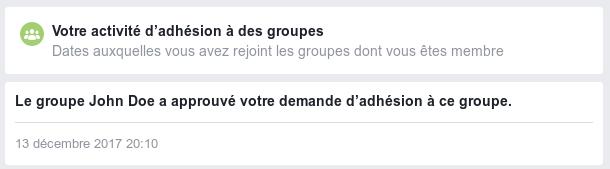 Rejoindre un groupe