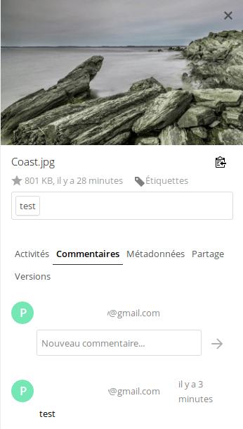 Commentaire sous NextCloud