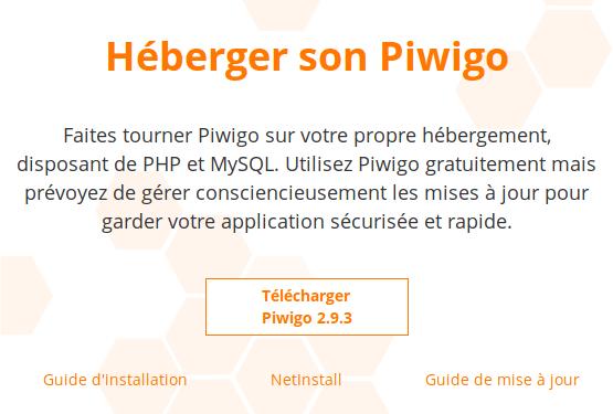 Téléchargement et Installation de Piwigo