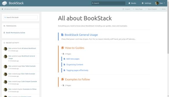 Books dans BookStack
