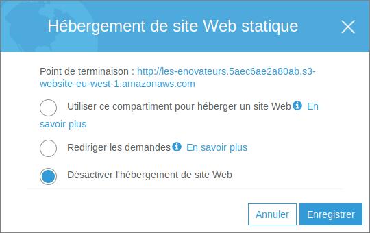 Hébergement de site Web statique sous S3