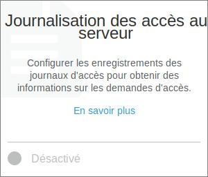 Journalisation des accès Serveur S3