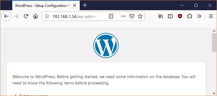 Apache2 avec la bonne configuration WordPress