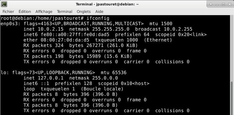 Debian 9 - ifconfig