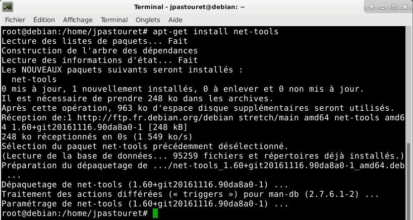 Debian 9 - net-tools
