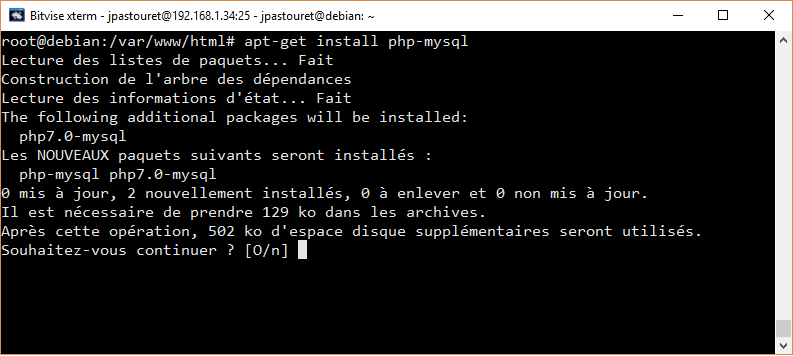Installation connecteur PHP-MySql
