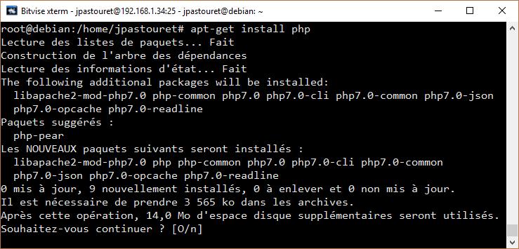 Installation de PHP 7.0
