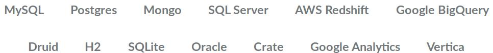 Liste des type de base de données