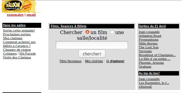 Archive.org - Allocine avril 2000