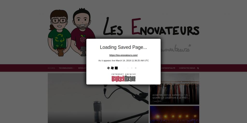 Archive.org - Sauvegarde du site