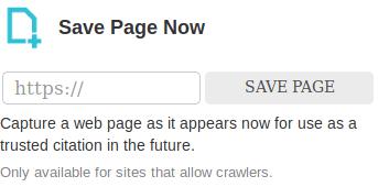 Archive.org - sauvegarder son site
