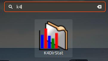 K4DirStat - Recherche dans Ubuntu