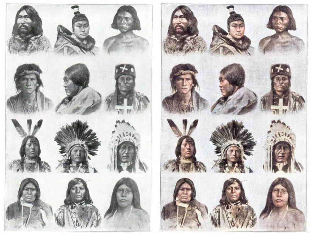 Colorisation croquis amérindien