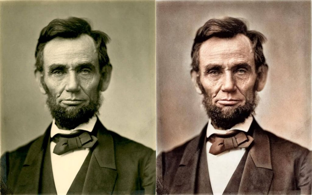 Colorisation de Lincoln