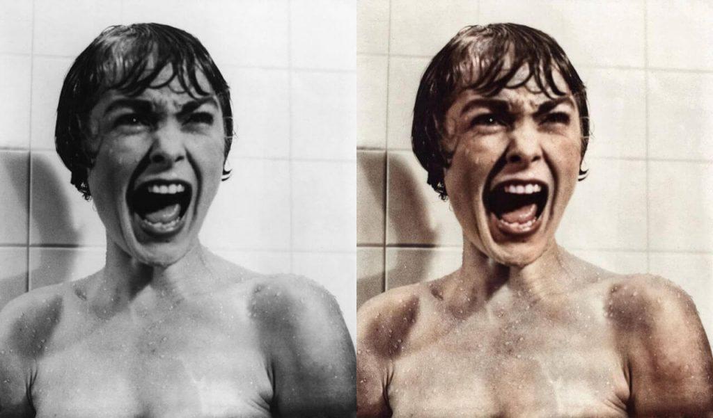 Colorisation du cri dans la douche