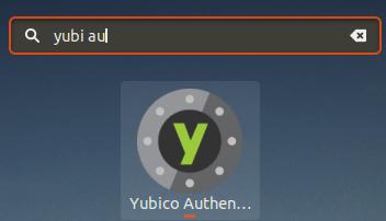 Lancement de YubiKey Authenticator