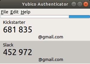 YubiKey Authenticator - Liste de code par service sous Ubuntu