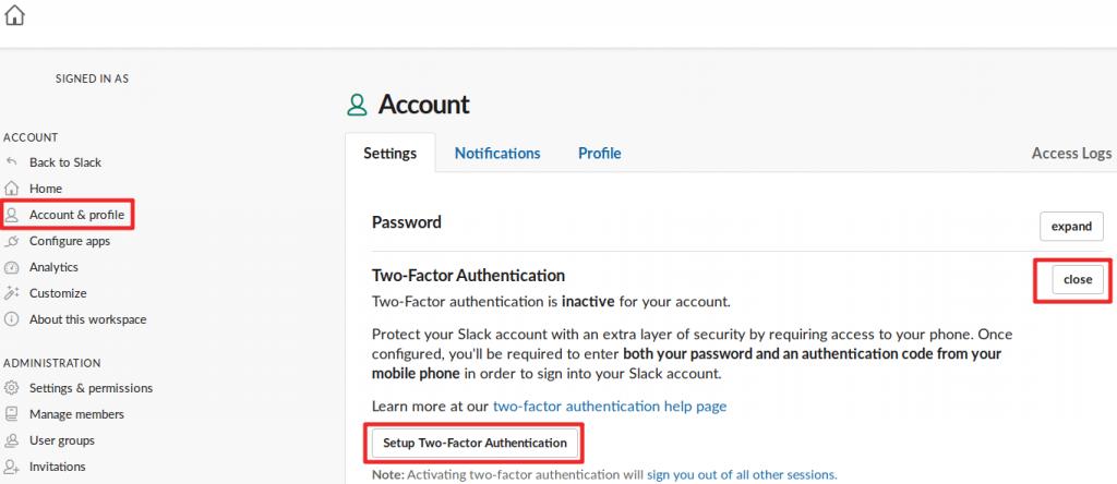 YubiKey - Authentification par code Slack