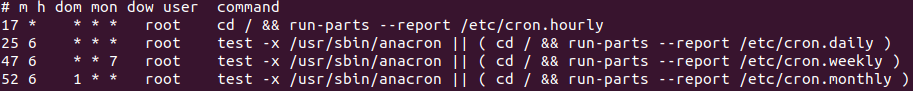 Liste des tâches planifiées sous Ubuntu